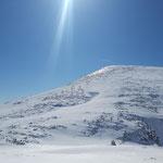 Gipfelanstieg zum Höllkogel - relativ steil geht es diesen Hang bergauf zum Gipfelkreuz