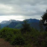 Der Blick auf den Spering und die Ausläufer des Sengsengebirges