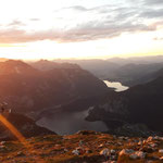 Blick auf den Hallstätter See und Hallstatt