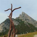Blick zurück vom Passo die Falzarego auf unser Tagesziel