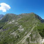 Panorama am Gipfel auf den Warscheneckstock