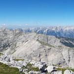 Panorama am Gipfel - Totes Gebirge bishin zum Hohen Dachstein