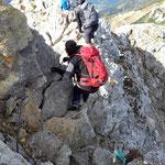 Der Roland Felsen am Rückweg