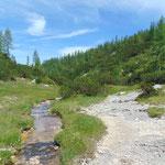 Rückweg vom Wildensee zur Rinnerhütte