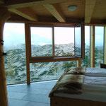 Was für ein Ausblick - Beginn unserer Tour war die Dachstein Lodge, wo wir über Nacht blieben