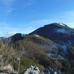 Blick vom Maisenkögerl zurück zu Hutkogel und Hochsalm