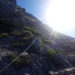Seilgesicherte Passagen zum Großen Schoberstein