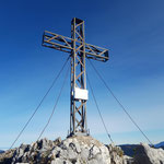 Das Gipfelkreuz ist erreicht!