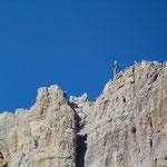 Der Gipfel des Paternkofels im Zoom