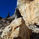 An dieser Stelle dürfte vor nicht allzu langer Zeit ein großer Felsen aus der Wand gebrochen sein