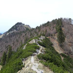 Weg retour (Blick auf Rauen Kaibling und Pfannstein)