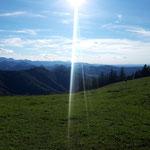 Ausblick auf das Gebirge Richtung Westen