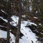 Relativ steil verläuft auch der letzte Wegabschnitt bis zum Gipfel