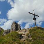 Gipfelkreuz des Aukopfes