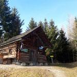 Kleine Hütte am Gipfel