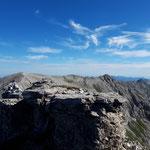 Retour über Kreuzspitze, Kaminspitz, Schrocken