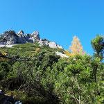 Blick beim Abstieg retour auf den Mannsberg