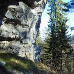 Felsformationen unterhalb der Hohen Mauer