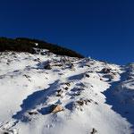 Vom Gipfel trennen uns nur noch wenige Höhenmeter