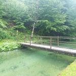 Die Überquerung der Brücke ist der Beginn der Tour