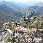 Kleines Gipfelkreuz des Nackten Kaiblings