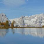 Großer Priel und Spitzmauer im Spiegelsee