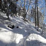 Letzter Gipfelanstieg - die Spuren hatten wir uns gut ausgetreten