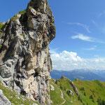 Felsformationen der Arlspitze