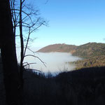 Das Nebelmeer weit unter uns