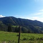 Blick auf Hochbuchberg, Gaisberg und Dürres Eck