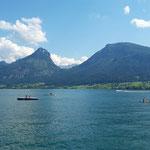 Am Ufer des Wolfgangsees vor der Bahnabfahrt