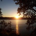 Sonnenuntergang über dem Traunsee