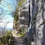Wegverlauf entlang der Ewigen Wand