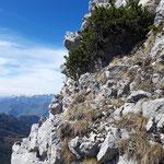Kraxelpassage zum Gipfel
