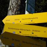 Am Ende der Alm zweigt der Grazer Steig ab - von hier aus sind es noch circa 45 Minuten