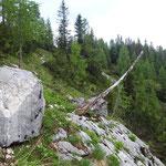 Dieser Hang trennt uns noch vor dem Hochkogelhaus