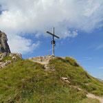 Einmal noch das Gipfelkreuz