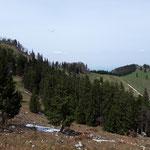 Blick zurück auf Gradnalm und Pfannstein
