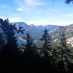Blick während des Aufstieges zur Rinnerhütte