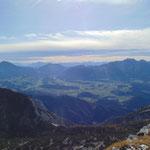 Ausblick auf Pyhrgas, Bosruck und die Berge des Kremstals