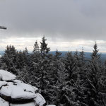 Panorama am Gipfel des Bärensteins - Blick auf den dahinter liegenden Lipno Stausee