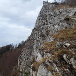 Felswand der Bräumauer (leider bei schlechterem Wetter)