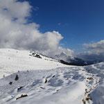 Wegverlauf - im Hintergrund zeigen sich die markanten Gipfel Berwerkskogel und Rettenkogel