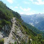 Wegverlauf Richtung Schwarzkopf