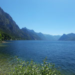 Los geht's - am Traunsee entlang
