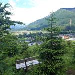 Pausenplätzen wenige Meter vom Gipfel entfernt