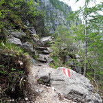 Wegverlauf im Fels