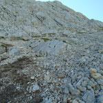 Steiler Anstieg hin zum Meisenbergsattel