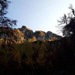 Blick zurück auf den Mannsberg