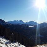 Dachsteinmassiv und Gosaukamm in Sicht